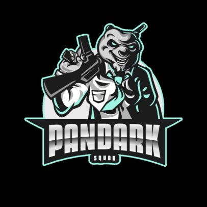 Logo Creator for a Gaming Squad with a Panda Character 867b-el1