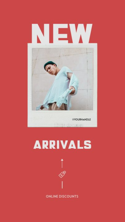 Fashion-Themed Instagram Story Maker for the Announcement of New Arrivals 932c-el1