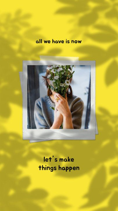 Inspirational Instagram Story Maker with Leaves Shadows 2455d