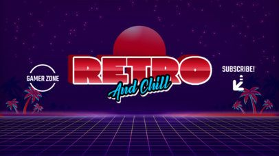 Youtube Banner Maker for Gaming Channels Featuring a Retro Neon Style 939c-el1