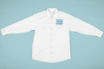Flat Lay Mockup of a Button-Up Shirt 33410