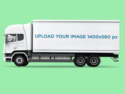 Car Decal Mockup Featuring a Cargo Truck 3615-el1