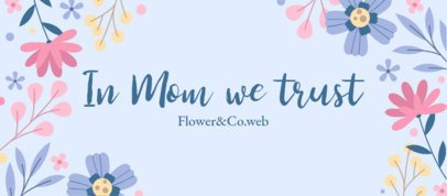 Flower Shop Facebook Cover Template for Mother's Day 2453c