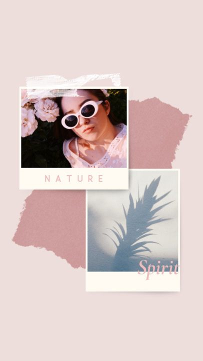 Instagram Story Design Generator With Instant Picture Frames and Minimal Backgrounds 935a-el1