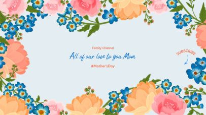 YouTube Banner Template a Channel Dedicated to Mothers 2454e