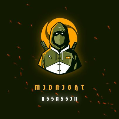 Gaming Logo Template With a Mysterious Ninja Clipart 3165e