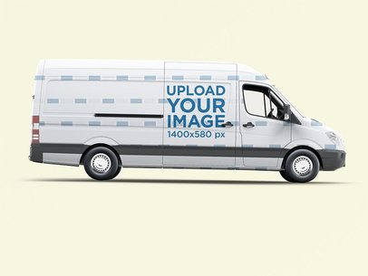 Van Wrap Mockup With a Plain Color Background 3626-el1