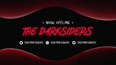 Twitch Offline Banner Maker for Gamers Featuring a Dark Color Scheme 2449c