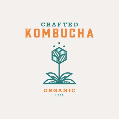 Organic Logo Maker for a Crafted Kombucha Brand 3171c