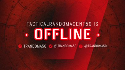 Twitch Offline Banner Maker with Traslucid Graphics 2449i