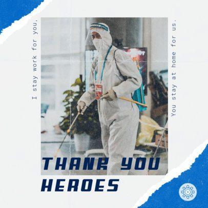 Instagram Post Maker Honoring Doctors and Nurses 2441k 2479