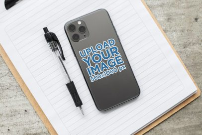 Sticker Mockup Featuring a Phone and Stationery Items 33607