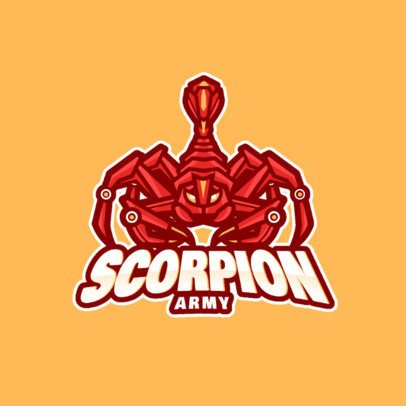 Gaming Logo Maker with a Robotic Scorpion Clipart 981d-el1