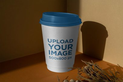 Mockup of a Coffee Cup with a Dim Lighting 3766-el1