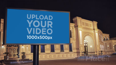 Video of a Billboard Outside a Luxurious Building 34381