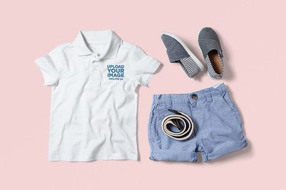 Mockup of a Polo Shirt with a Fresh Casual Outfit 3008-el1