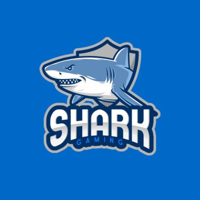 Gaming Logo Creator with an Angry Shark Graphic 1055a-el1