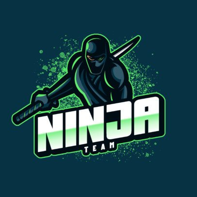 Gaming Logo Generator Featuring a Dark Ninja Graphic 1069c-el1