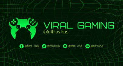 Twitch Banner Creator with a Futuristic Net Background 2469j