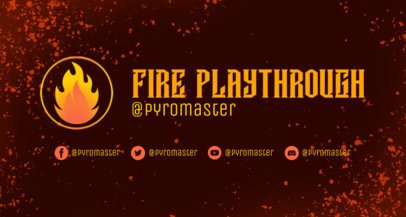 Twitch Banner Maker with a Flame Icon 2469k