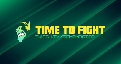 Twitch Banner Template with an Angry Gorilla Face 2469f