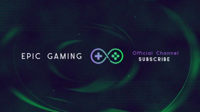 YouTube Banner Creator for an Official Gaming Channel 2470q