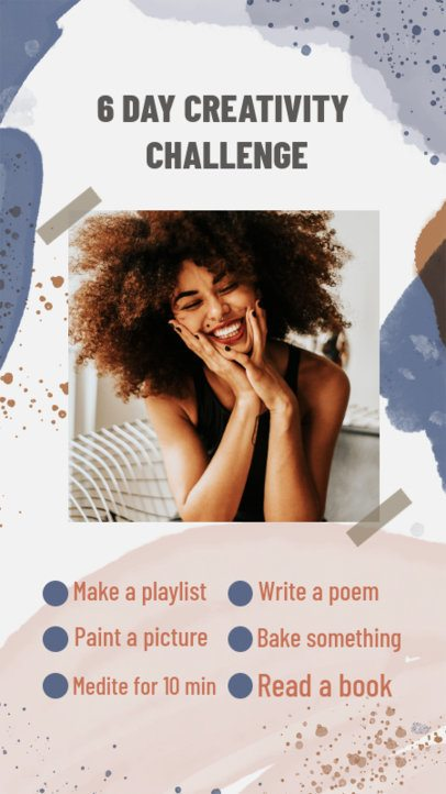 Instagram Story Maker Featuring a Bingo-Style Creativity Challenge 2476h