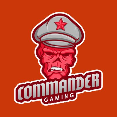 Logo Creator for a Gaming Squad Featuring a Red Skull Graphic 1077b-el1