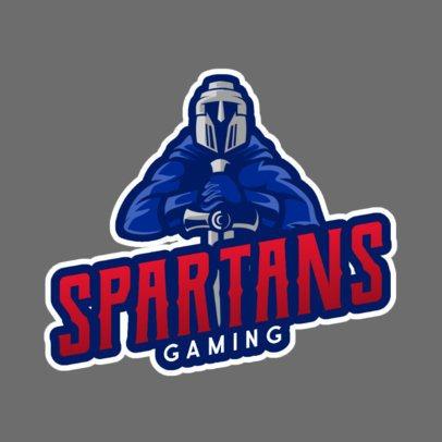 Logo Template Featuring a Spartan Warrior with a Helmet 1077e-el1
