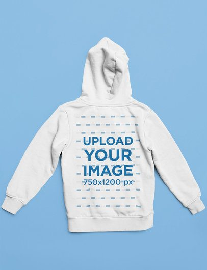 Back-View Mockup of a Hoodie Placed Against a Solid Surface 33892