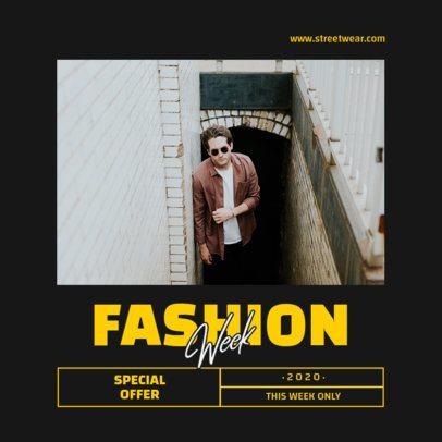 Instagram Post Creator for a Special Fashion Week Sale 965b-el1
