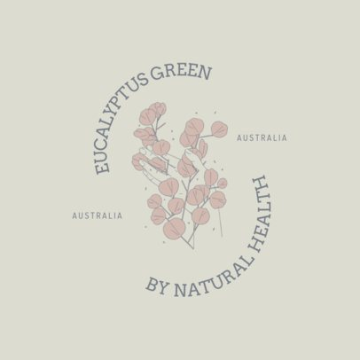 Elegant Logo Maker Featuring an Illustration with Eucalyptus Leaves 3192e