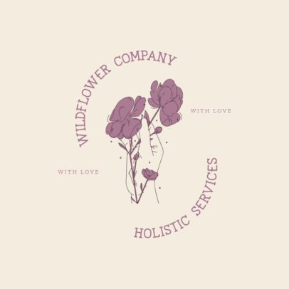 Logo Maker Featuring Elegant Floral Illustrations 3192i