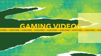 YouTube Banner Creator for a Gaming Channel with an Anti-Design Style 2467c