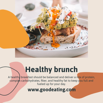 Instagram Post Design Template for a Healthy Eating Post 1120-el1