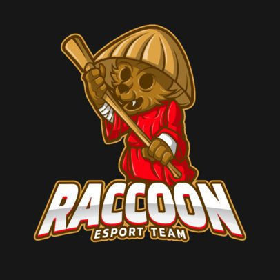 Logo Maker for an eSports Team with an Ancient Raccoon Graphic 1165e-el1