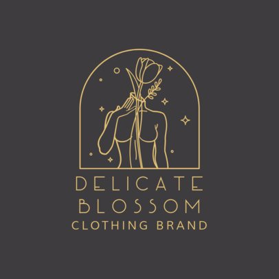 Clothing Brand Logo Maker Featuring a Female Body Silhouette 3193b