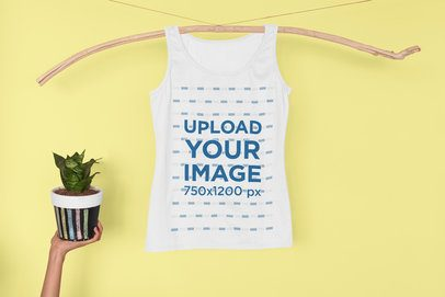 Tank Top Mockup with a Funny Composition 33962