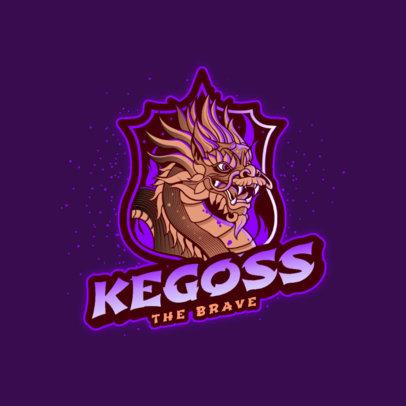 Gaming Logo Creator Featuring a Dragon in an Emblem 3185j