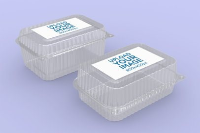 Mockup of Two Food Boxes 4023-el1