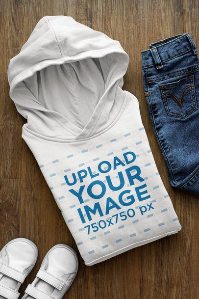 Mockup of a Pullover Hoodie Surrounded by Boy Clothes 33876
