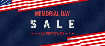 Patriotic Facebook Cover Creator with a Memorial Day Theme 2487b