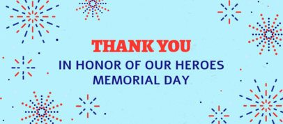 Facebook Cover Generator Featuring Fireworks Clipart for Memorial Day 2487i