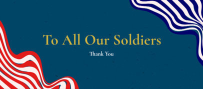 Festive Facebook Cover Maker for a Memorial Day Remembrance 2487j