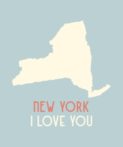 Patriotic T-Shirt Design Creator with The New York State Shape 1220b-el1