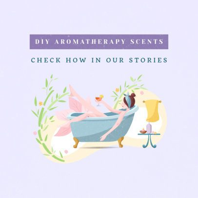 Instagram Post Template for DIY Aromatherapy Scents 1148b-el1