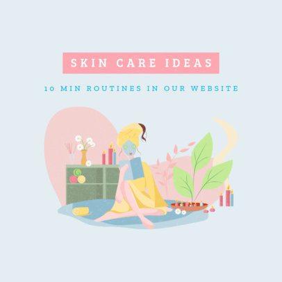 Instagram Post Featuring Skincare Ideas 1148c-el1