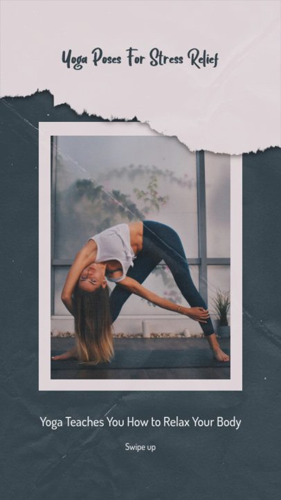 Relaxing Instagram Story Template with Yoga Tips 1268c-el1