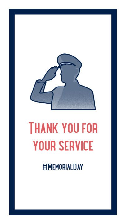 Simple Instagram Story Maker to Thank Military Men and Women 2787g