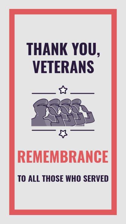 Holiday-Themed Instagram Story Creator Thanking Veterans 2787i